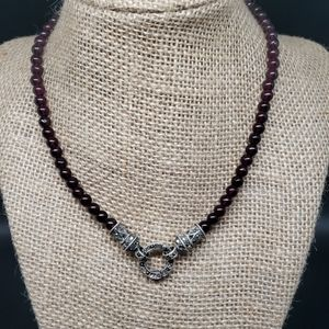 Jewelry - MARCACITE AND GARNET NECKLACE